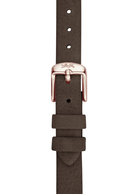 Wood leather strap 18mm