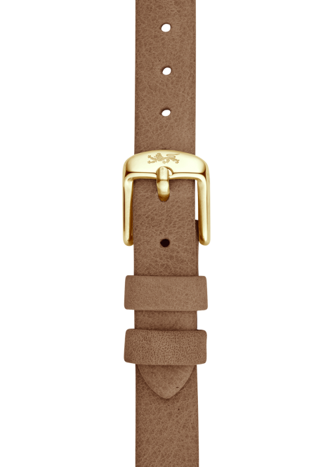 Camel leather strap 18mm