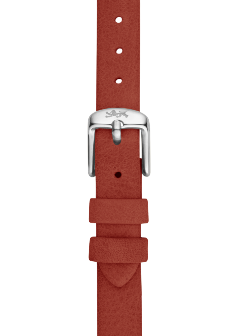 Orange leather strap 18mm