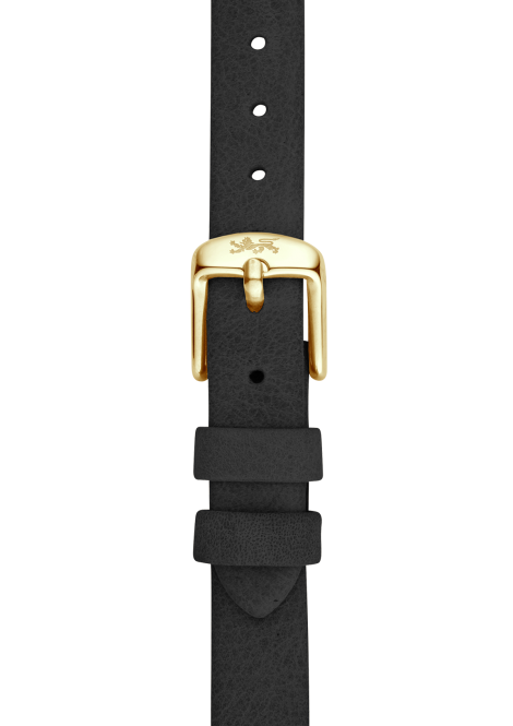 Coal leather strap 18mm