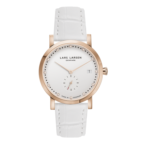 【Special Price】Helena (LW37) Rose gold with White leather strap<img class='new_mark_img2' src='https://img.shop-pro.jp/img/new/icons55.gif' style='border:none;display:inline;margin:0px;padding:0px;width:auto;' />