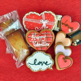 バレンタイン限定商品:アイシングクッキー&フィナンシェ