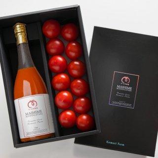 【限定100】『まいひめ物語』秀品トマト&赤ラベル100%ジュース