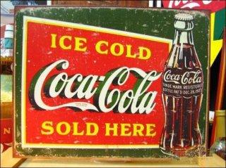 ブリキ看板 Coca Cola