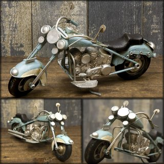 ★【VINTAGE CAR Mini Old Bike US 】★レトロ ヴィンテージ★ミニ ビンテージ オールドバイク ブルー★