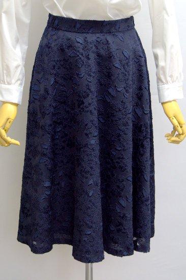 Crespi クレスピ フラワーカットジャガードスカート