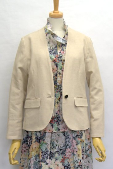 【2019Spring】Michel Beaudouin 麻/綿プリペラストレッチ ジャケット<img class='new_mark_img2' src='https://img.shop-pro.jp/img/new/icons8.gif' style='border:none;display:inline;margin:0px;padding:0px;width:auto;' />