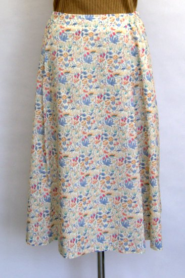 Crespi クレスピ flamingoプリント フレアスカート