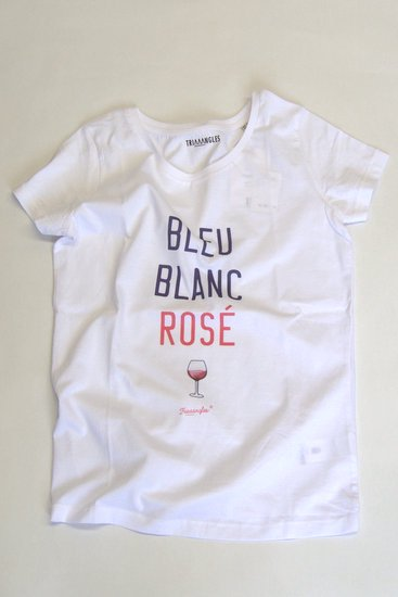 TRIAAANGLES トライアングルズ レディスオーガニックコットンTシャツ BLEU BLANC ROSE
