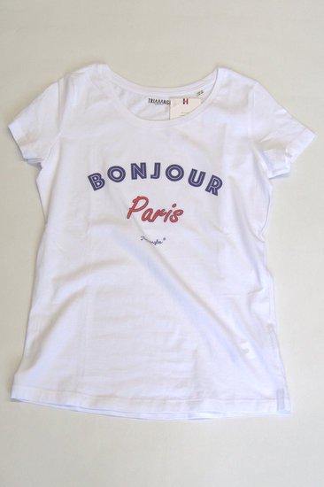 TRIAAANGLES トライアングルズ レディスオーガニックコットンTシャツ BONJOUR Paris