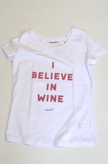 TRIAAANGLES トライアングルズ レディスオーガニックコットンTシャツ I BELIEVE IN WINE