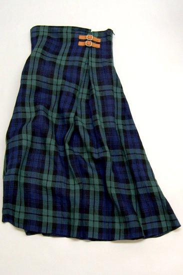 O'neil of Dubline オニールオブダブリン リネンタータンチェック ハイウェストスカート