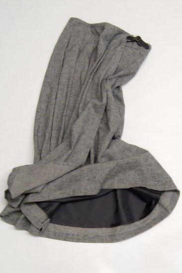 Vent d'ouest par Leminor ルミノア 綿麻モノクロチェック プリーツスカート