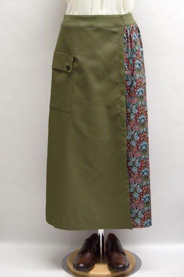 Michel Beaudouin ミッシェルボードワン シーズナルリバティ 巻きスカート