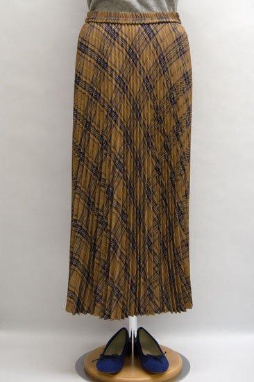 Michel Beaudouin ミッシェルボードワン ブロビスダブルカバーチェック プリーツスカート