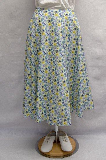 Crespi クレスピ リバティプリント フレアスカート 75cm丈