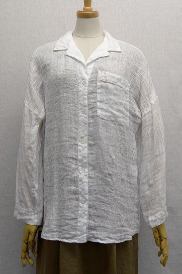 LIN'N LAUNDRY ランランドリー リネンガーゼ シャツジャケット サイズ36