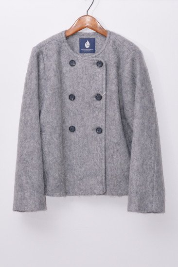 Michel Beaudouin<br>(ミッシェル ボードワン)<br>モヘヤシャギー ノーカラージャケット<img class='new_mark_img2' src='https://img.shop-pro.jp/img/new/icons14.gif' style='border:none;display:inline;margin:0px;padding:0px;width:auto;' />