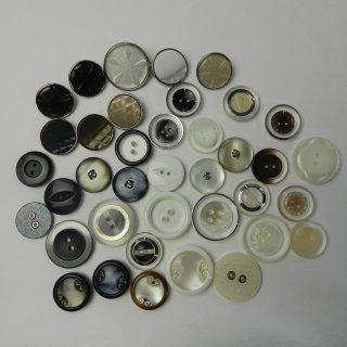[38個入]婦人ジャケット用ハトメ・組み合わせボタン/18〜23mm/2穴・足つき