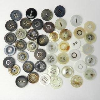 [45個入] 婦人ジャケット用ハトメボタン・組み合わせボタン/18mm/2穴・4穴・足つき