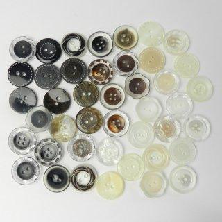 [43個入]婦人ジャケット用組み合わせボタン丸型・花型/18mm/2穴・4穴
