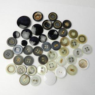 [45個入]婦人ジャケット用ハトメボタン・組み合わせボタン/13〜30mm/2穴・4穴・足つき