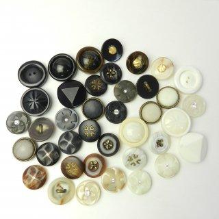 [39個入]婦人ジャケット用ラインストーン付きボタン・組み合わせボタン/20〜25mm/2穴・足つき