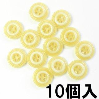 [10個入] 白円模様入ベージュボタン/15mm/4穴/ジャケット袖口・カーディガンに最適