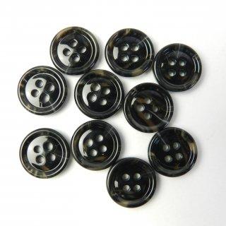 模様入黒色系ボタン/15mm/4穴/ジャケット袖口・カーディガンに最適