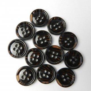 模様入茶色系ボタン/15mm/4穴/ジャケット袖口・カーディガンに最適