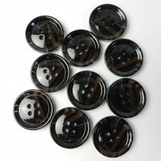 模様入黒色系ボタン/23mm/4穴/コートに最適