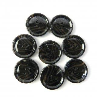 模様入黒色系ボタン/28mm/4穴/コートに最適