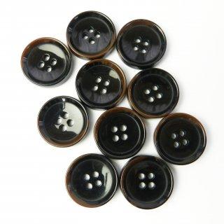 模様入こげ茶色系ボタン/20mm/4穴/ジャケットやスーツに最適