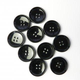 黒色ボタン/25mm/4穴/コートに最適