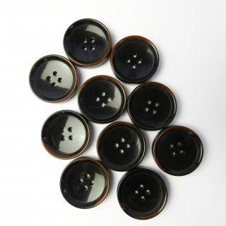 模様入こげ茶色系ボタン/25mm/4穴/コートに最適