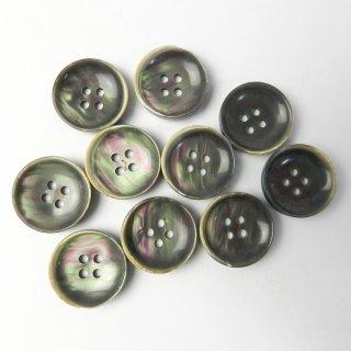 黒色系貝調ボタン/20mm/4穴/スーツやジャケットに最適