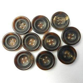茶色系水牛ボタン/20mm/4穴/スーツやジャケットに最適