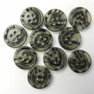 模様入りグレー系ボタン/15mm/4穴/ジャケット袖口・カーディガンに最適