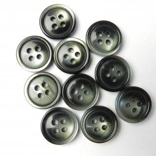 黒色グレー系グラデーションボタン/15mm/4穴/ジャケット袖口・カーディガンに最適
