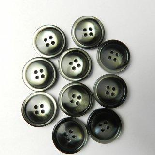 黒色グレー系グラデーションボタン/21mm/4穴/ジャケット袖口・カーディガンに最適