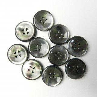 黒色系貝調ボタン/20mm/三角形の4穴/ジャケットやスーツ上着に最適
