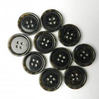 [10個入] 模様入りグレー系ボタン/23mm/4穴/コートに最適