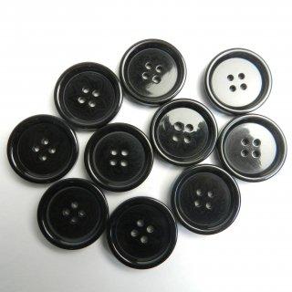 模様入り黒色系ボタン/25mm/4穴/コートに最適
