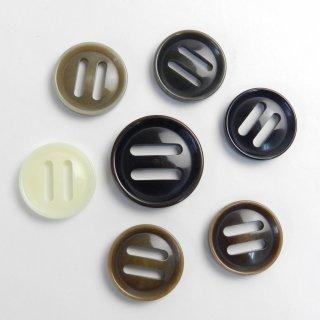[7個入]ナット調パラシュートボタンまとめてお得/素材:ポリエステル/25mm・20mm/2穴/テープ留め/ミリタリー風カジュアル・アーミー調