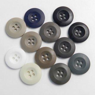[12個入]ヴィンテージ加工のミリタリーカジュアルボタンお得な詰め合わせ/素材:ポリエステル/20mm/4穴/ミリタリー調・アーミー調