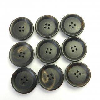 黒色系水牛ボタン/19mm/4穴/カーディガンに最適