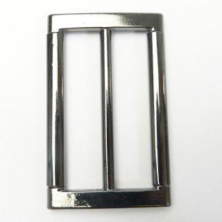メタリックシルバーのバックル/内径50mm/素材:メタル系/コート・ハンドメイド・手芸・コスプレに最適
