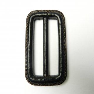 皮革風のこげ茶色系バックル/内径50mm/素材:プラスチック系/コート・ハンドメイド・手芸・コスプレに最適