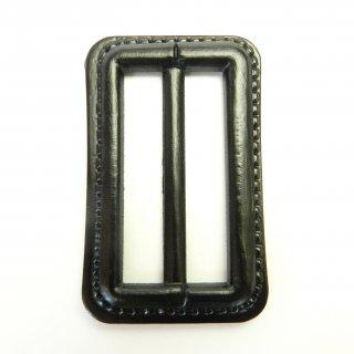 皮革風の黒色系バックル/内径50mm/素材:プラスチック系/コート・スプリングコート・コスプレに最適