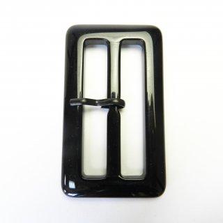 黒色系ピン付バックル/内径60mm/本体素材:プラスチック系/ピン素材:メタル系/トレンチコート・スプリングコート・コスプレに最適